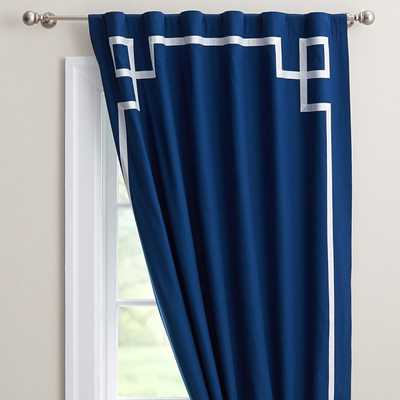 "Emma Ribbon Trim Blackout Drape - 84"" - Pottery Barn Teen"