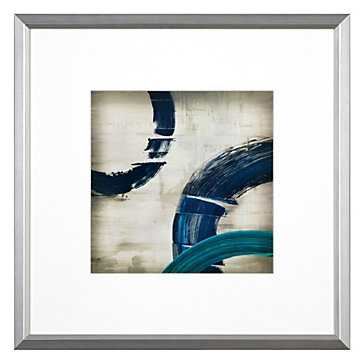 Halcyon 2 - 21.5''W x 21.5''H  - Framed (Silver) with Mat - Z Gallerie