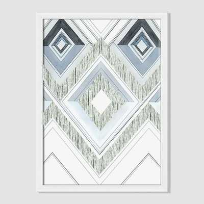 "Roar + Rabbit Print -  Layered Diamonds - 16""w x 22""h. - framed - West Elm"