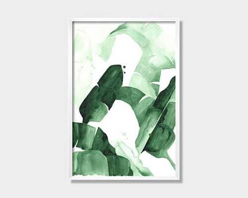 """Beverly I"" Tropical Banana Palm Leaves Art Print Poster - 20"" x 30"" - Etsy"