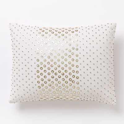"Sequined Allover Dot Pillow Cover - 12"" x 16"" - Insert Sold Separately - West Elm"