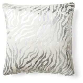 Baby Zebra Hide Pillow - One Kings Lane