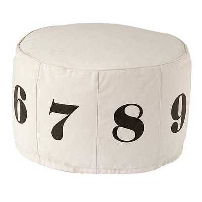 Numbers Pouf - Natural - Land of Nod