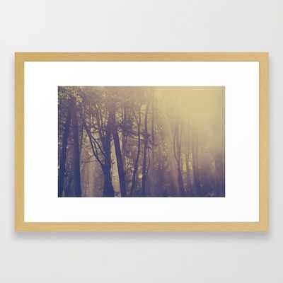 "Morning Mountain Lake 21"" x 15"" framed - Society6"