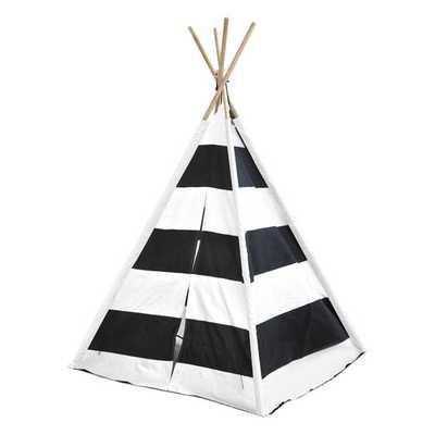 Kids Play Tent in Black & White Stripes - AllModern
