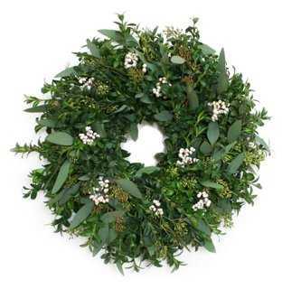 "18"" Winter Boxwood Wreath - One Kings Lane"