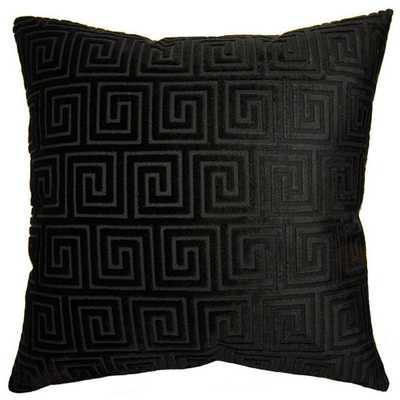 Noir Maze Pillow - 20sq. with Feather Down Insert - Candelabra