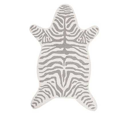 Zebra Shaped Rug - Gray - France & Son