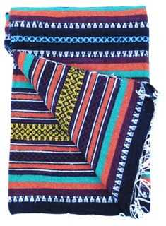 Moroccan Tribal Cotton Blanket - One Kings Lane