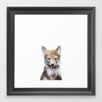 "Little Wolf - Framed - 12"" x 12"" - Society6"