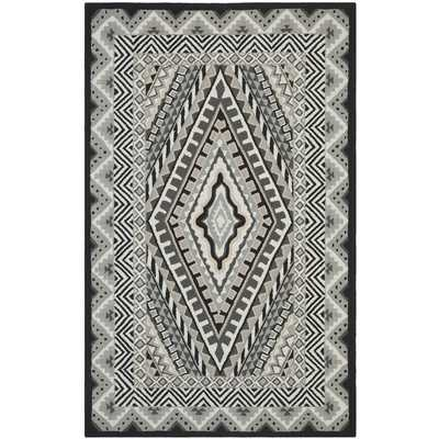 Four Seasons Ivory/Grey Outdoor Area Rug - Wayfair