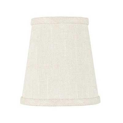 Tall Linen Chandelier Shade - Cream - Ballard Designs