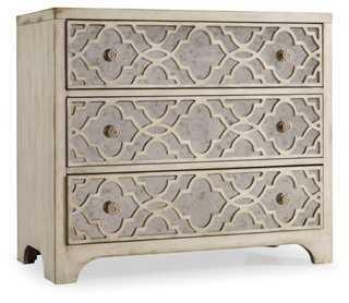 "Fretwork 36"" Mirrored Dresser, White - One Kings Lane"