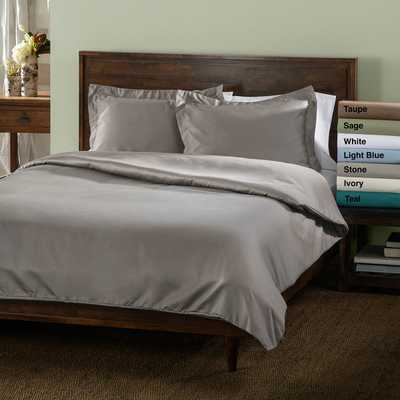 Luxor Treasures 600 Thread Count Wrinkle-resistant 3-piece Duvet Cover Set (King/Cal.King) - Overstock