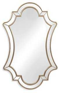 """30""""x48"""" Shapely Mirror, Champagne Leaf - One Kings Lane"""