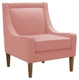 Scarlett Swoop-Arm Chair, Pink Linen - One Kings Lane