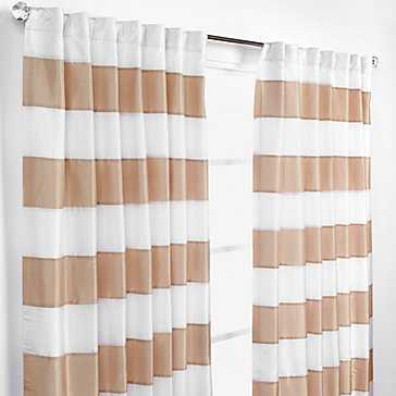 "Capri Panels - Gold and Ivory - 54""W x 96""L - Z Gallerie"