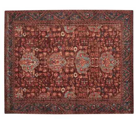 Aisha Printed Rug - Red - 9' x 12' - Pottery Barn
