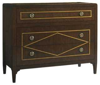 Ambrose 3-Drawer Chest, Brown/Bronze - One Kings Lane