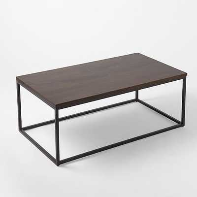 Box Frame Coffee Table - Wood/Antique Bronze - West Elm