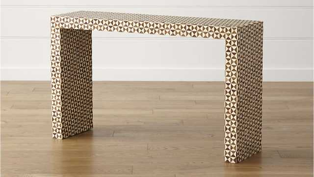 Intarsia Console Table - Crate and Barrel