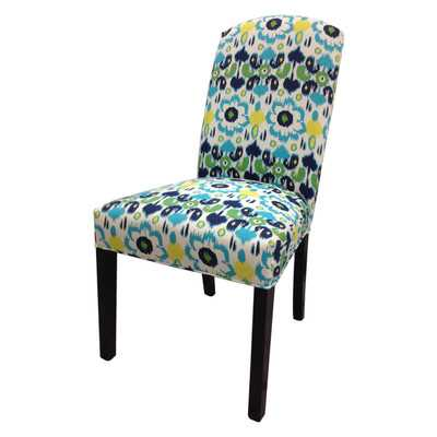 Flora Cotton Parson Chair - Wayfair