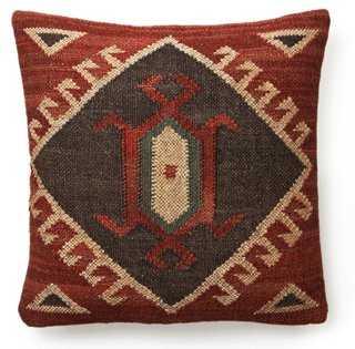 Kilim 20x20 Wool-Blend Pillow, Red - One Kings Lane