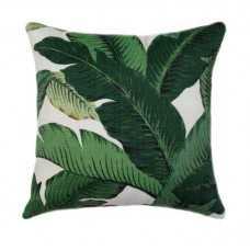 """Outdoor Green Leaf Pillow - 20"""" - with insert - landofpillows.com"""