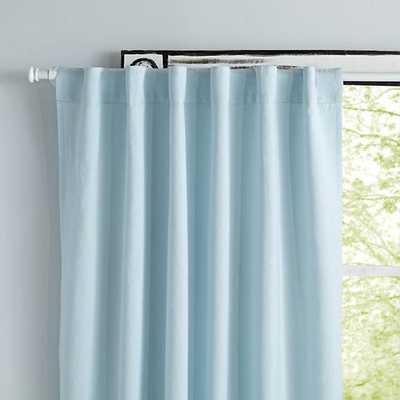 """96"""" Light Blue Fresh Linen Curtain - Land of Nod"""