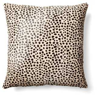 Cheetah Hide Pillow - 18x18 - With Insert - One Kings Lane