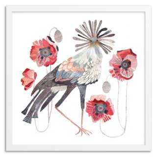 "Michelle Morin, Secretary Birds - 20"" x 20""-White Frame with mat - One Kings Lane"