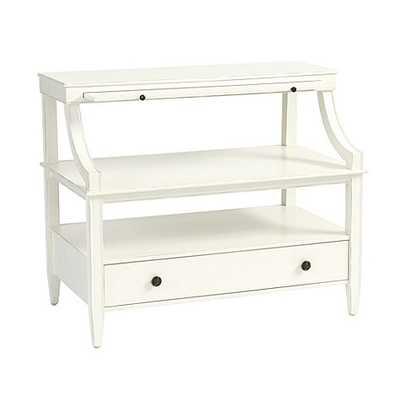 Sidney Open Side Table - Rubbed Soft White - Ballard Designs