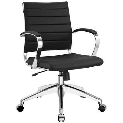 JIVE MID BACK OFFICE CHAIR IN BLACK - Modway Furniture