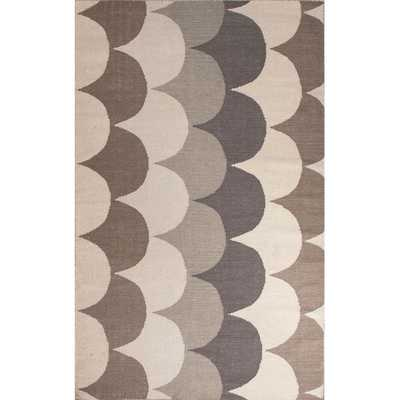 Flat Weave Geometric Pattern Grey/ Natural Wool Area Rug - Overstock