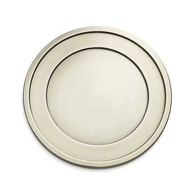 Lawrence Charger Plate - Crate and Barrel
