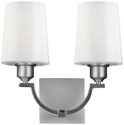 Feiss Preakness Two Tone Nickel Wall Sconce - Lamps Plus