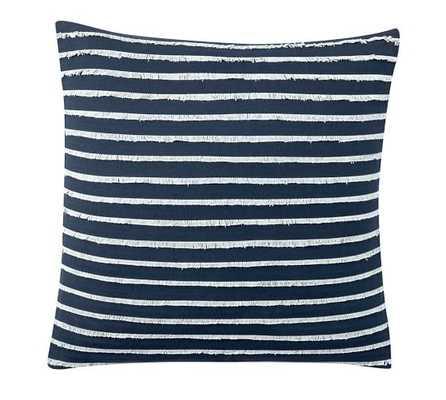 Fringe Stripe Pillow Cover - Navy, 18x18, Insert Sold Separately - Pottery Barn