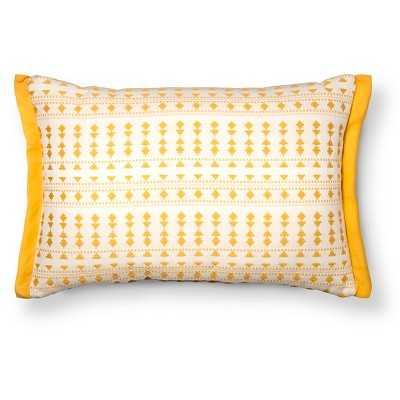Woven Geo Lumbar Throw Pillow - Yellow-20L x 14W-Polyester fill - Target