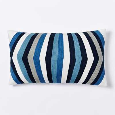 Crewel Optic Stripe Pillow Cover - West Elm