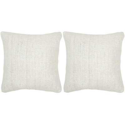 Carrie Silk Throw Pillow - Set of 2 - Wayfair