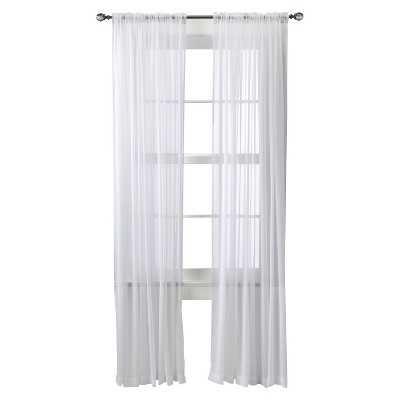 "Thresholdâ""¢ Chiffon Sheer Curtain Panel- 52"" x 95"" - Target"