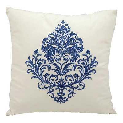 Damask Indoor/Outdoor Decorative Pillow - Insert included - Target