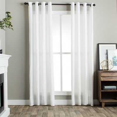 Julia M Fuller Vintage Washed Belgian Linen Curtain Panel - 50'X96' - Overstock