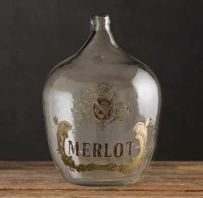 1920S HAND-BLOWN WINE BOTTLE, Merlot - RH