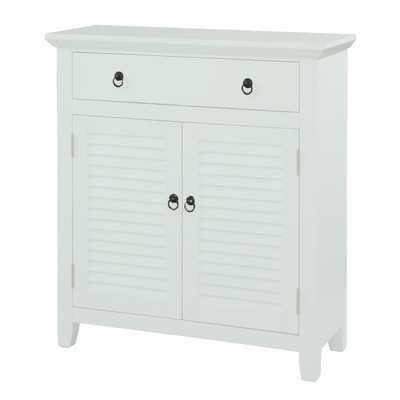 1 Drawer 2 Door Console - White - Wayfair