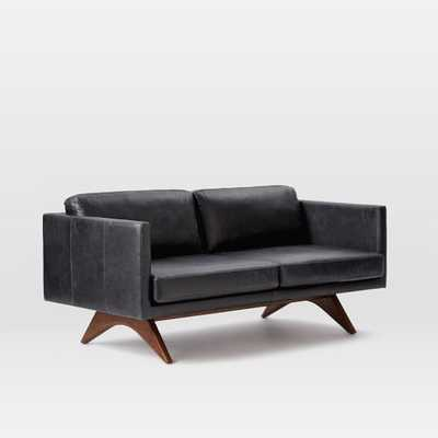 "Brooklyn Leather 81"" Sofa - Licorice - West Elm"