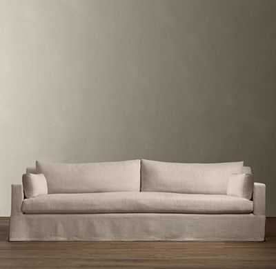 BELGIAN TRACK ARM SLIPCOVERED SOFA - RH