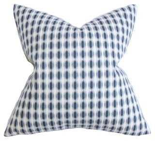 Dots 18x18 Pillow, Indigo - One Kings Lane