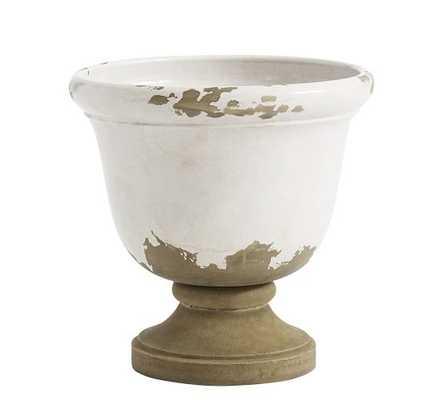 TUSCAN PEDESTAL PLANTER, MEDIUM, WHITE - Pottery Barn