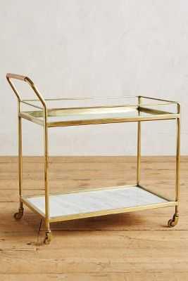Delaney Bar Cart - Silver - Anthropologie
